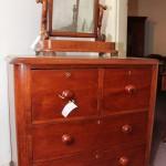 Cedar four drawer chest with key hole escutcheons