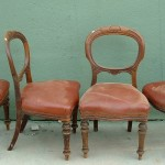 Set of four balloon back chairs