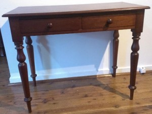 Two drawer cedar side table a